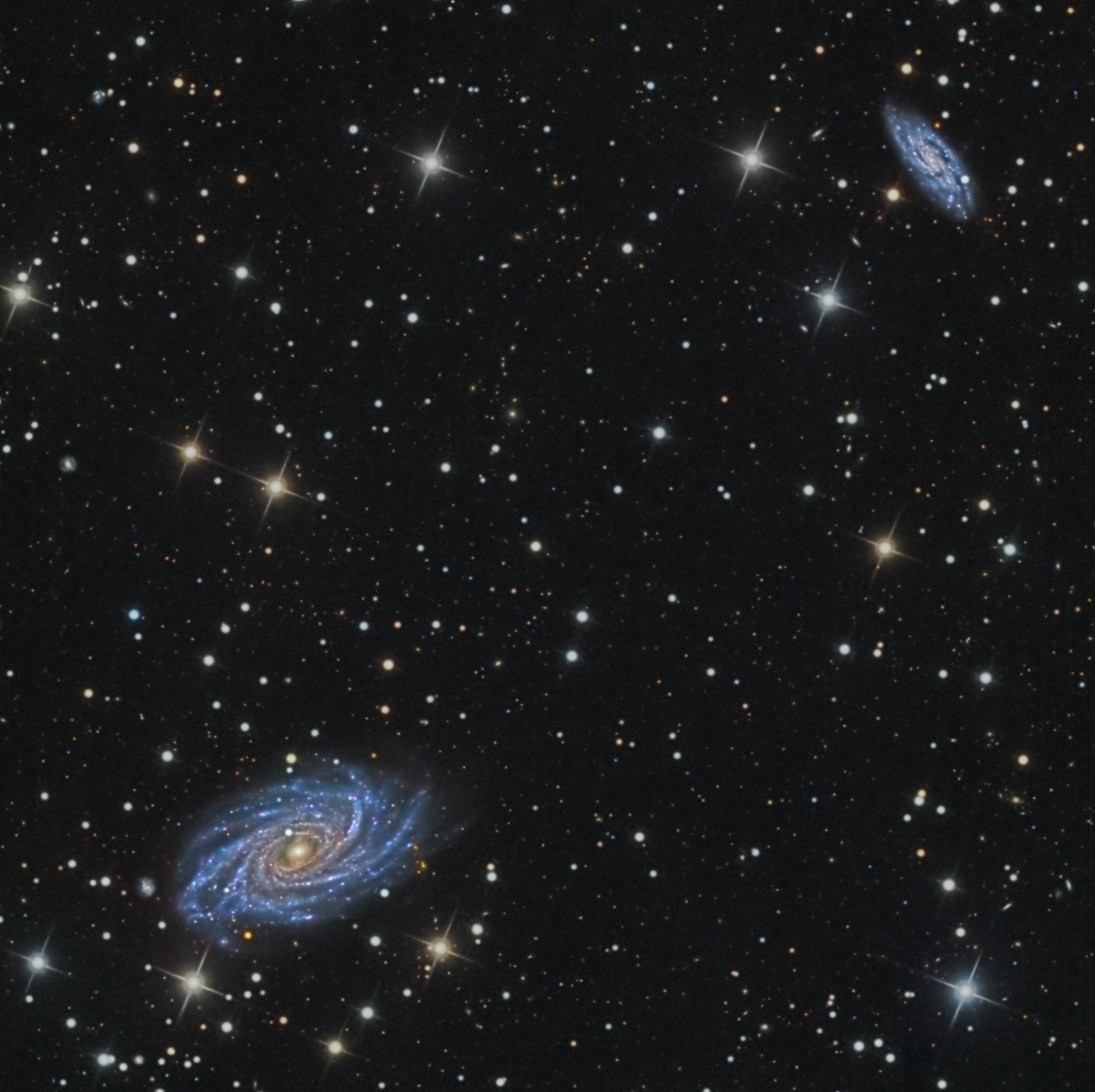 NGC 2336 and IC 467, galaxies in Camelopardalis